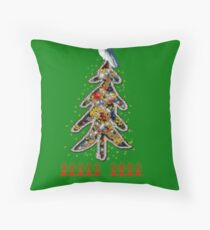 Aussi  X-mas cockatoo (green text) Stock up , get ready for Christmas ! Throw Pillow