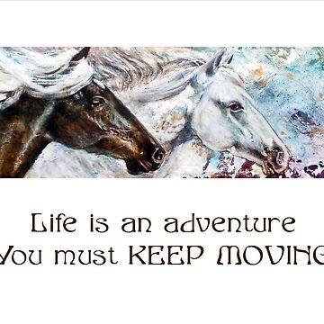 Horses Keep Moving by rinekedejong