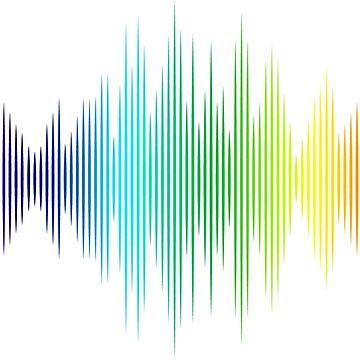 Rainbow Music Waves by ainecreative