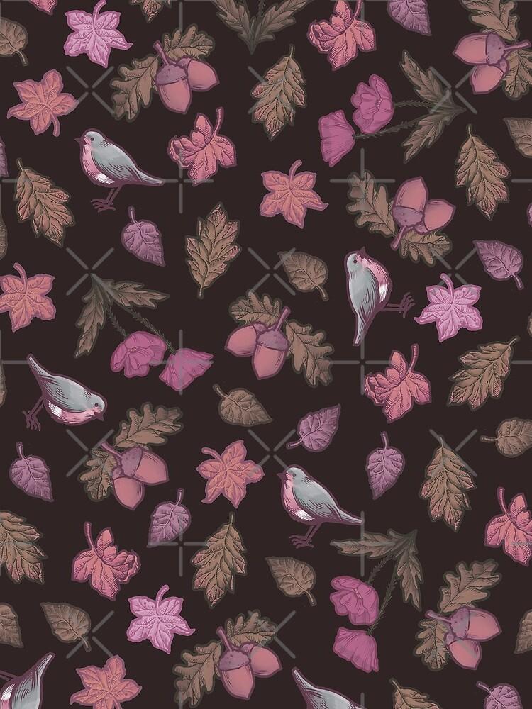Folk Autumn Mauve by medusadollmaker