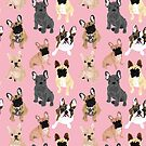 Frenchies in Pink by VieiraGirl