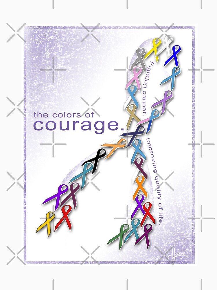 The Colors of Courage Cancer Awareness Ribbons by hobrath