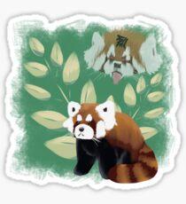 Red Panda Rage Fan Art Sticker