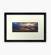 Shelley Jetty At Sunset  Framed Print