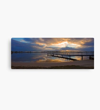 Shelley Jetty At Sunset  Canvas Print