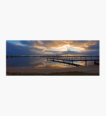 Shelley Jetty At Sunset  Photographic Print