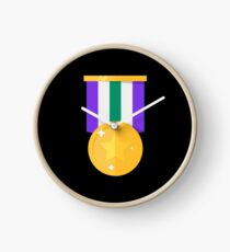 Medals single Gold Medal with stars - Gift Idea Clock