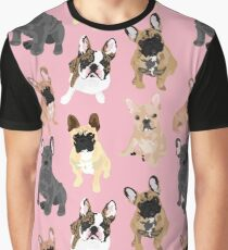 Frenchies in Pink Graphic T-Shirt
