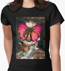 Marylin Monroe Butterfly  Women's Fitted T-Shirt