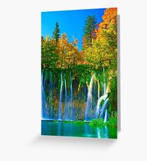 Tranquil falls Greeting Card