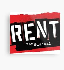 Rent the Musical Broadway Show Forget Regret Theatre Metal Print