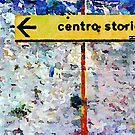 Borrello: road sign and clothes pegs by Giuseppe Cocco