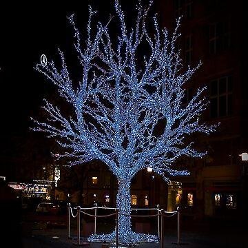 Blue Xmas Tree by DeniseAbe