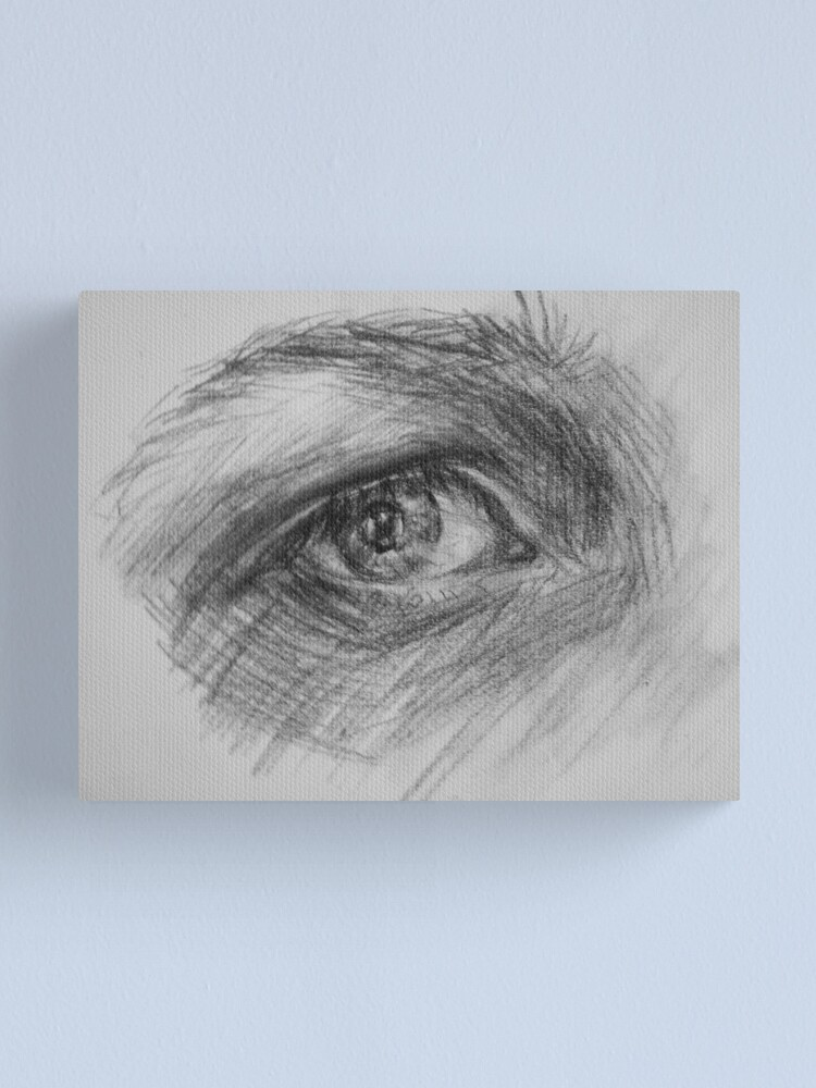 Alternate view of Eye, charcoal Canvas Print