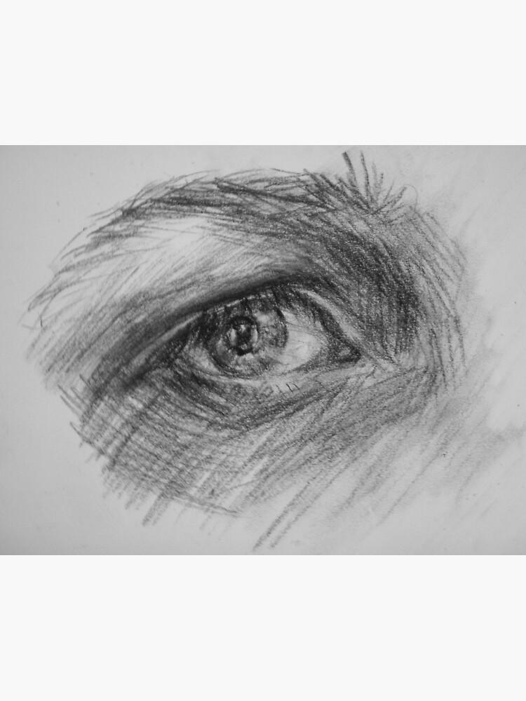 Eye, charcoal by Anthropolog