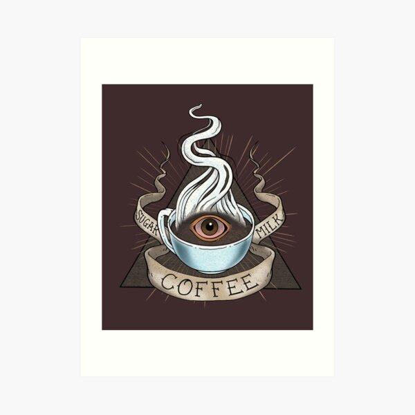 The Holy Trinity of Caffeine Art Print