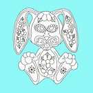 Color Me Sugar Skull Bunny by J-CCreations