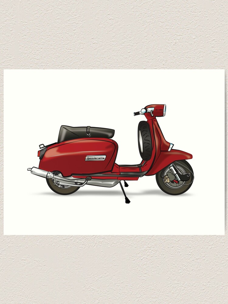 Alternate view of Red Lammy - By Collibosher Art Print