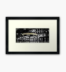 A long Exposure on a French Carousel Framed Print