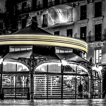 A long Exposure on a French Carousel by Stwayne