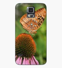 Butterfly on Cone Flower Case/Skin for Samsung Galaxy