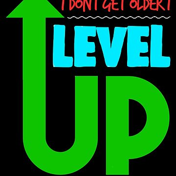 Videogame Level Up Birthday Party Apparel by CustUmmMerch