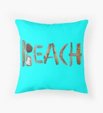 beach wood Floor Pillow