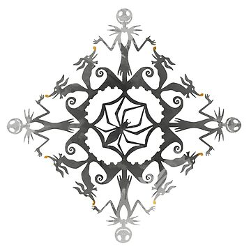 Skeleton and dog Snowflake Inspired Silhouette by InspiredShadows