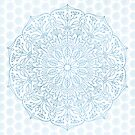 Blue Delicate Nature Mandala by Kelly Dietrich