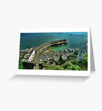 Clovelly Harbour, Devon, England Greeting Card