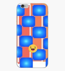 Blue Checkers iPhone Case