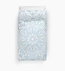 Blue Delicate Nature Mandala Duvet Cover