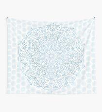 Blue Delicate Nature Mandala Wall Tapestry