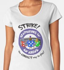 Strike! Gladiators in an Arena Premium Scoop T-Shirt
