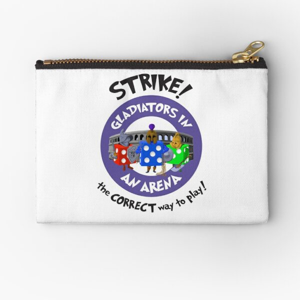 Strike! Gladiators in an Arena Zipper Pouch