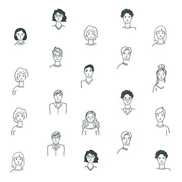 Sketchy People | Pattern Art by CarlosV