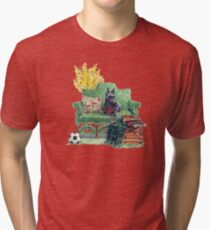 Scottie in the Garden Tri-blend T-Shirt