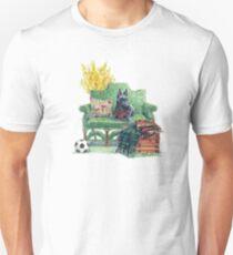 Scottie in the Garden Unisex T-Shirt