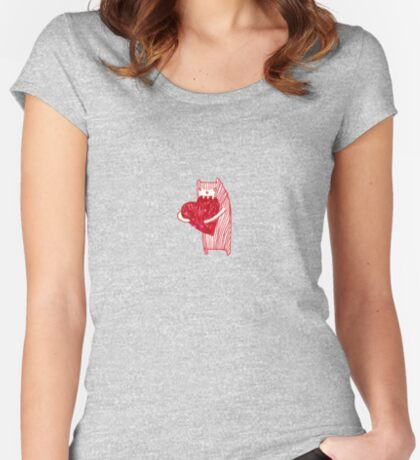 Chewy love heart  Women's Fitted Scoop T-Shirt