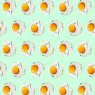 Mintgrünes lustiges Frühstücksnahrungsmuster sonniges Ei der Seite oben von lfang77