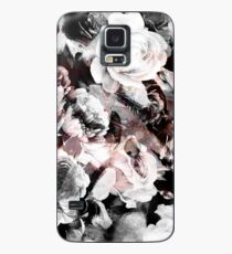 roses and poenies and abstract painted watercolor pattern Case/Skin for Samsung Galaxy