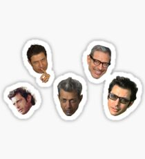 Jeff Goldblum Faces Sticker