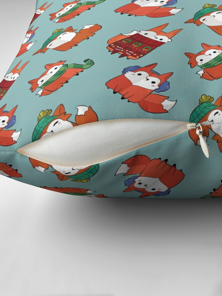 Alternate view of Winter Foxes Floor Pillow