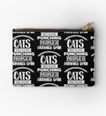 Cats because punching people is frowned upon (2) Studio Pouch