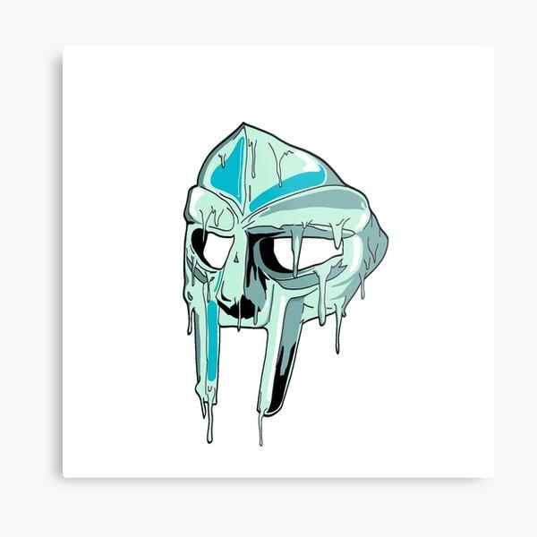 Drippy Mask Metal Print