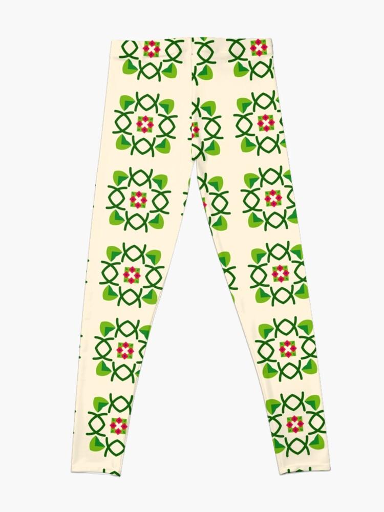 Alternative Ansicht von Naturfriedensliebe Romance romantico Blumengrünes nahtloses buntes Wiederholungsmuster Leggings