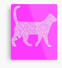 White Cat Design Metal Print