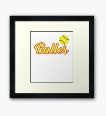 Just A Baller From New Mexico Framed Print