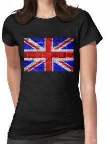 Union Jack Flag Brick Wall Womens Fitted T-Shirt