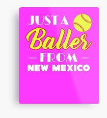 Just A Baller From New Mexico Metal Print